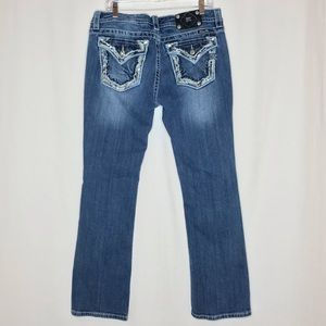 Miss Me Jeans Signature Boot Cut Embroidered Flap